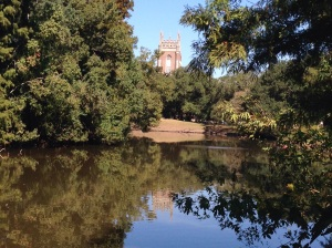 Audubon Park with Loyola University in the background
