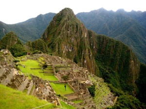 View down onto Machu Picchu