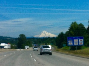 On the way to Mt. Hood  - photo from a car window