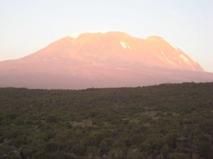 Sunset over Kibo, Kilimanjaro