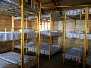 Bedroom at the hut at Cotopaxi