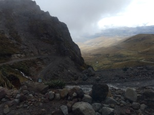 Road to Cayambe hut - and this was the good part!