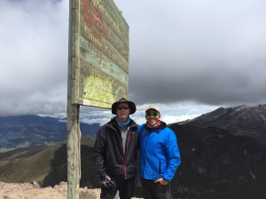 J and Ossie on the summit of Rucu Pichincha