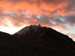 Sunset from the hut in Illiniza Norte