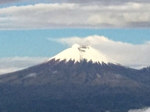 Cotopaxi from the hut at Illiniza Norte
