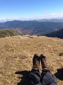 Taking a deep breath - Mt. Washington 2014