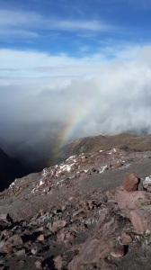 Rainbow on Cayambe descent