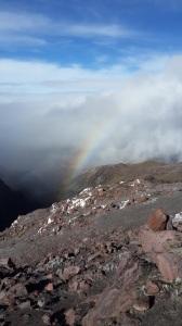 Rainbow on Cayambe descent