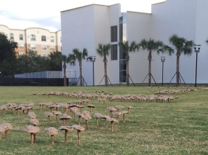 Mushrooms by the Performing Arts Center