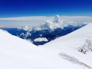 The saddle of Mt. Elbrus, Caucasus, Russia
